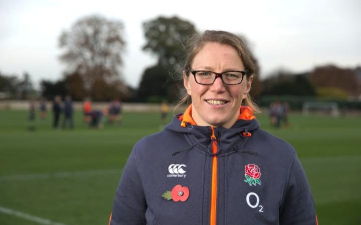 Rochelle Clarke, the England prop known as 'Rocky'